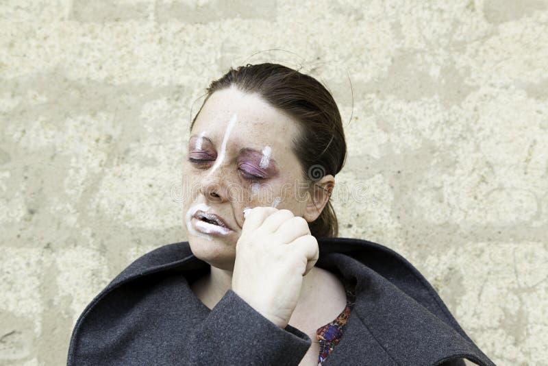 Nerdy kobiety makeup zdjęcia stock