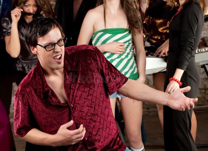 Nerdy Man Dancing royalty free stock image