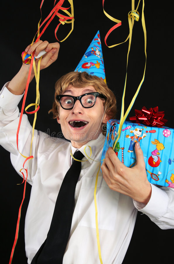 Download Nerdy Party Boy Stock Photo - Image: 7595850
