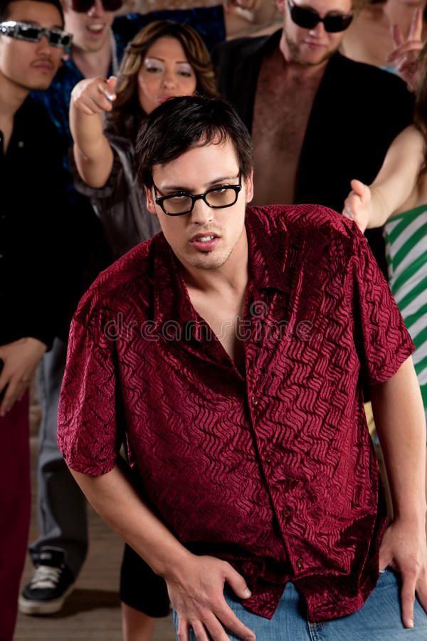 Nerdy young man stock image