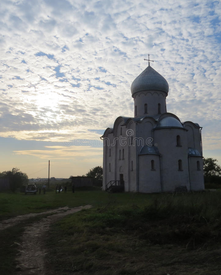 Nereditsa的救主教会 免版税库存图片