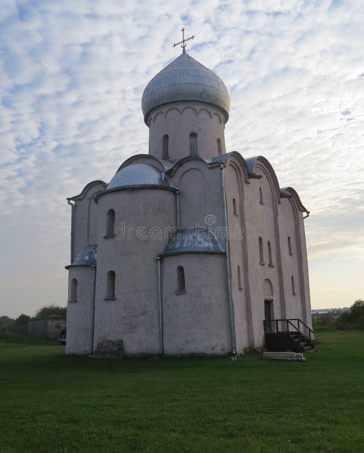 Nereditsa的救主教会 库存照片