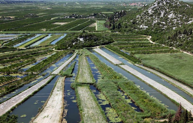 Neretva river basin. In the coastal Dubrovnik–Neretva county of Croatia royalty free stock images