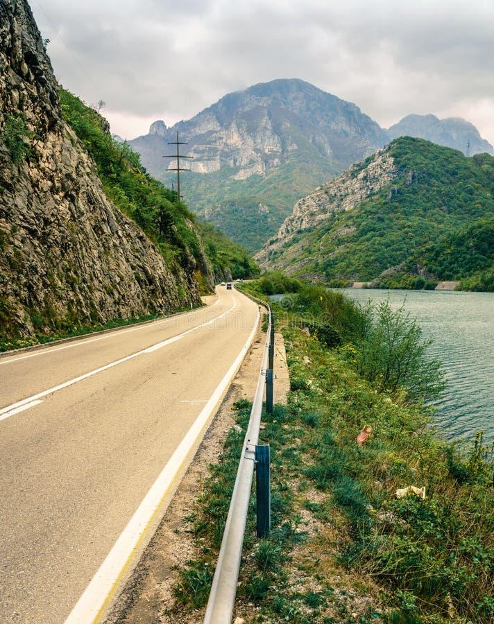 Neretva River canyon. Highway through the mountains along the Neretva River in Bosnia-Herzegovina stock photography