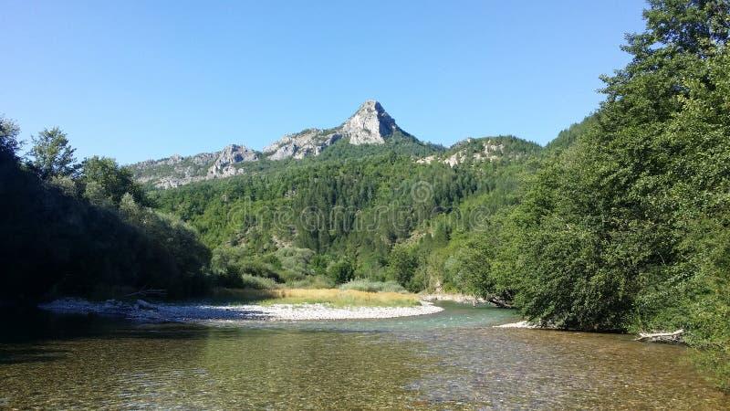 Neretva river. Detail of Neretva river near Konjic town, Bosnia and Herzegovina royalty free stock images