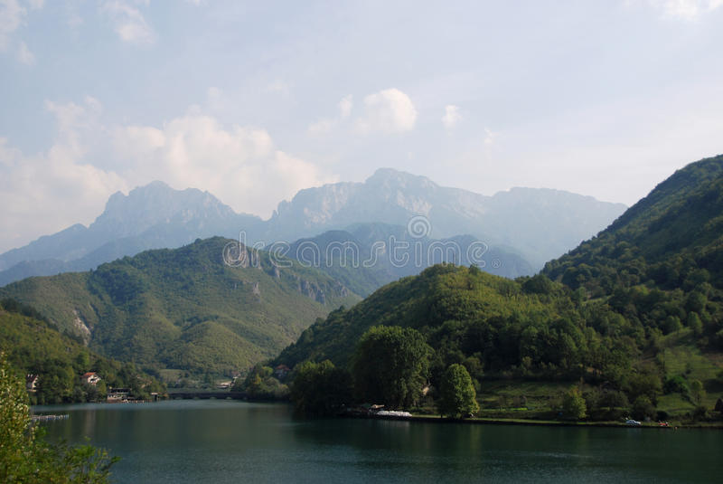 Neretva river. And Dinaric Alps near the village Glogosnica in Bosnia and Herzegovina royalty free stock image