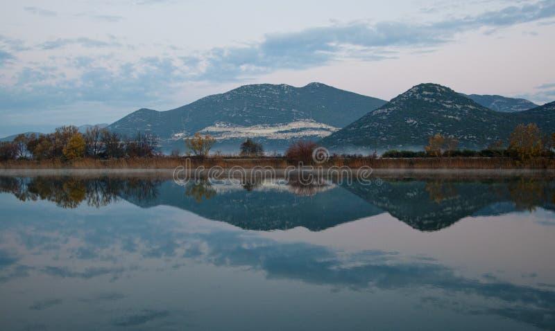 Neretva River passes through Opuzen and Rogotin. Croatia. The odor of the mountain in the water. the Mandarin Valley royalty free stock photos
