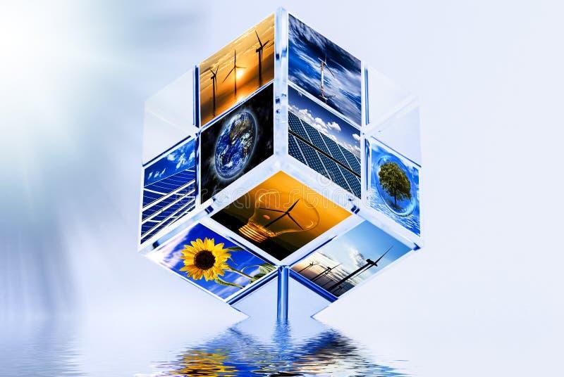 ?nergie renouvelable et environnement photo libre de droits