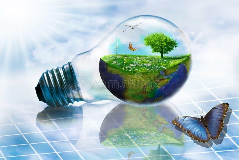 ?nergie renouvelable et environnement illustration de vecteur