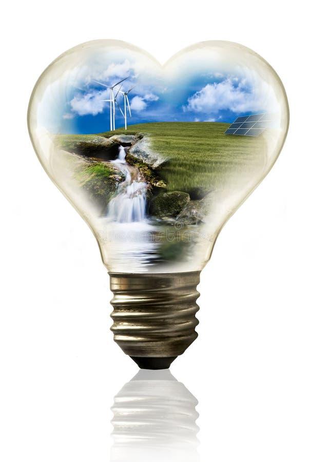 ?nergie renouvelable et environnement illustration stock