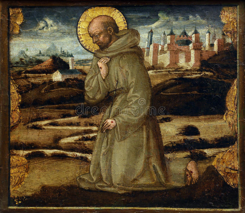 Neri di Bicci: Св. Франциск Св. Франциск Assisi стоковые изображения rf
