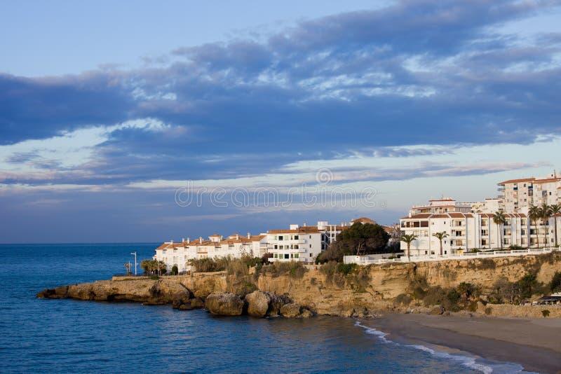 Nerja πόλη στην Ισπανία σε Κόστα ντελ Σολ στοκ εικόνες με δικαίωμα ελεύθερης χρήσης