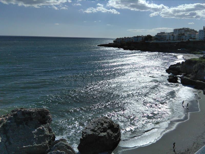 Nerja, пляж s стоковое изображение rf