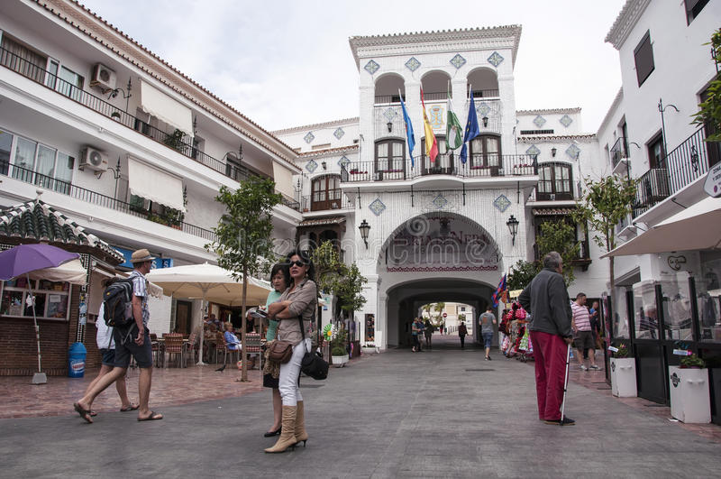 Nerja en España foto de archivo