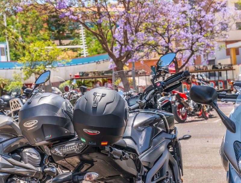 NERJA, ESPAGNE - 10 juin 2018 rassemblement de moto dans l'Anda célèbre photographie stock