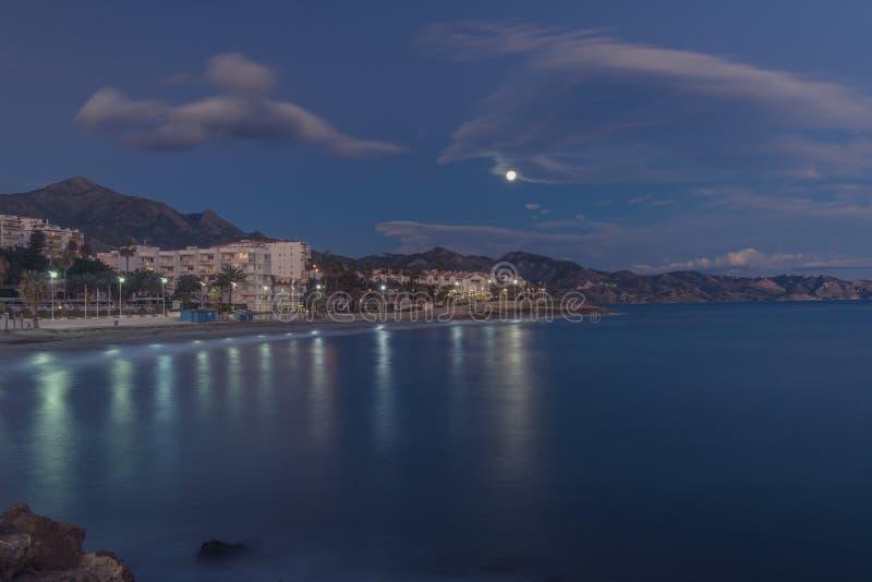 Nightfall on the coast royalty free stock photos