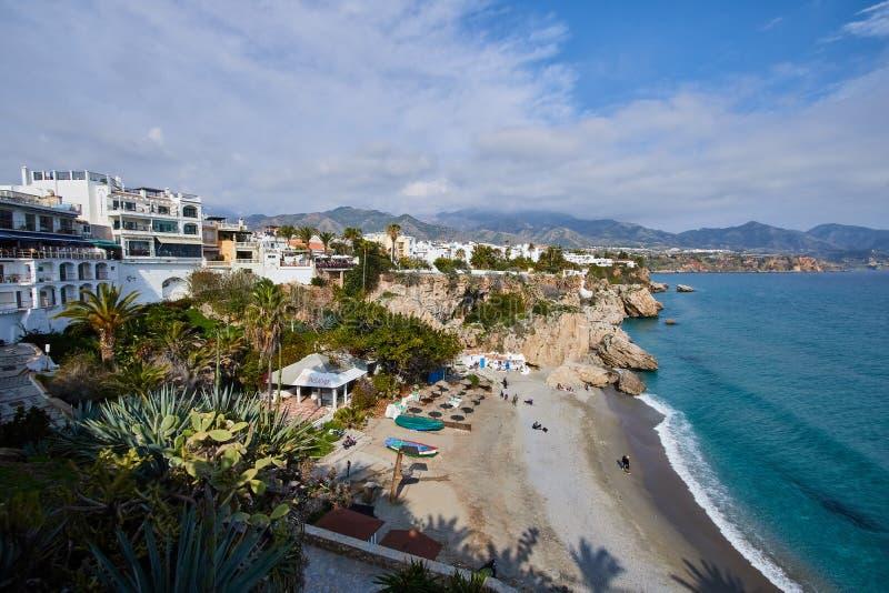 Nerja, Malaga, Spagna fotografia stock libera da diritti