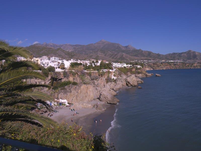 Nerja na extremidade oriental de Costa del Sol na Espanha fotos de stock royalty free