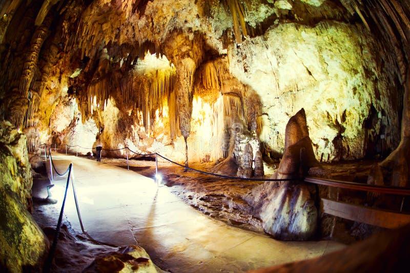 Nerja Zawala się (Cuevas de Nerja) obrazy royalty free