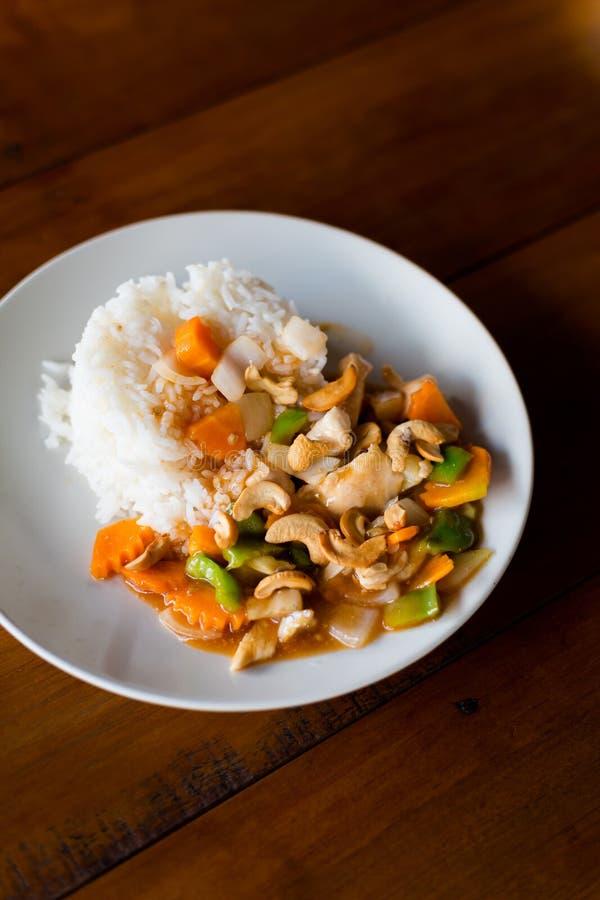 nerkodrzewu kurczaka dokrętki tajlandzkie zdjęcie royalty free