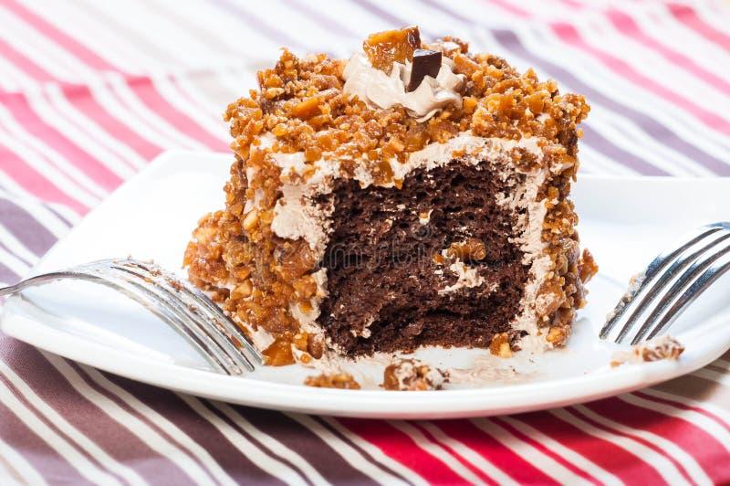 Nerkodrzewu toffee dokrętki tort fotografia stock