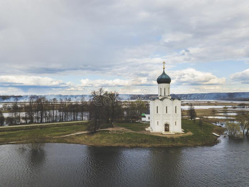 nerl intercession церков Россия Земля вида с воздуха стоковое фото rf