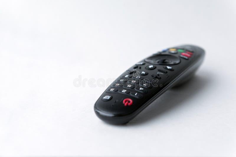 nero, a distanza, TV, bottoni, nero, a distanza, TV, bottoni immagini stock libere da diritti