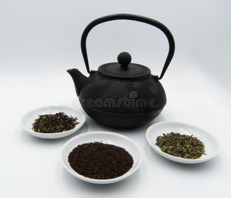 Nero do chá do verde e do chá imagens de stock royalty free