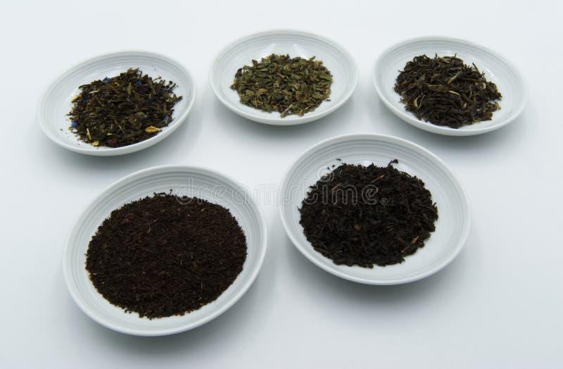 Nero do chá do verde e do chá imagem de stock