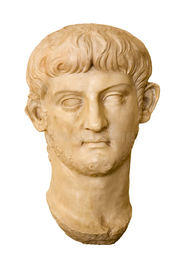 Nero, imperador romano imagens de stock royalty free