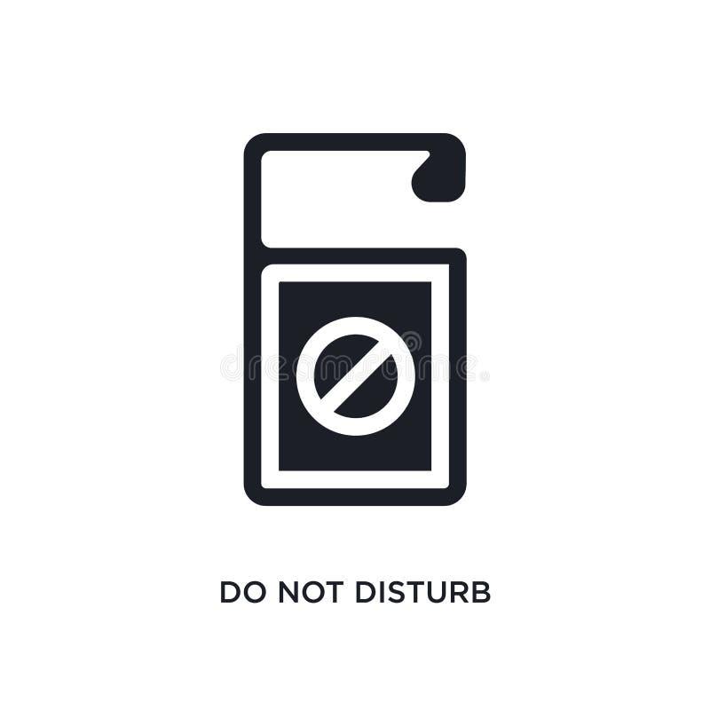 nero non disturbi l'icona isolata di vettore illustrazione semplice dell'elemento dalle icone di vettore di concetto dell'hotel n illustrazione di stock