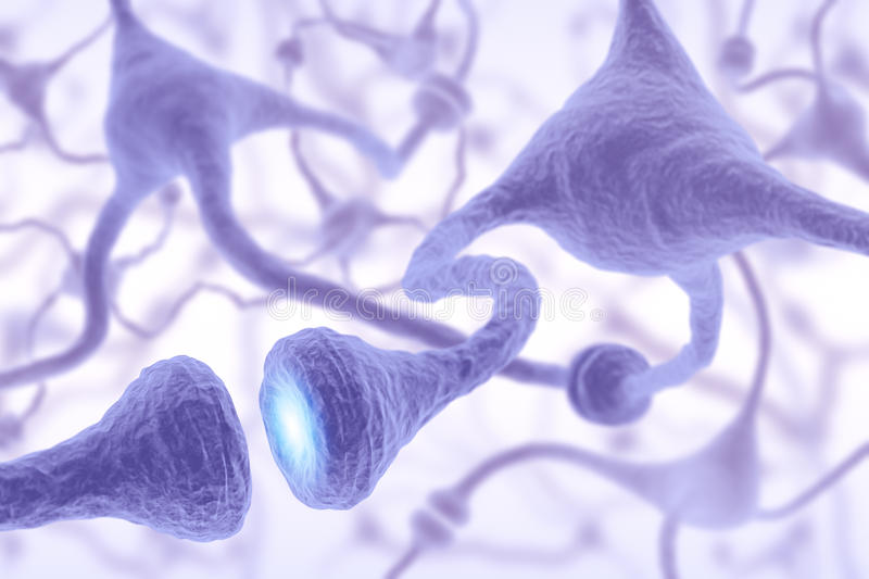 Nerve Cell Pulse Royalty Free Stock Image