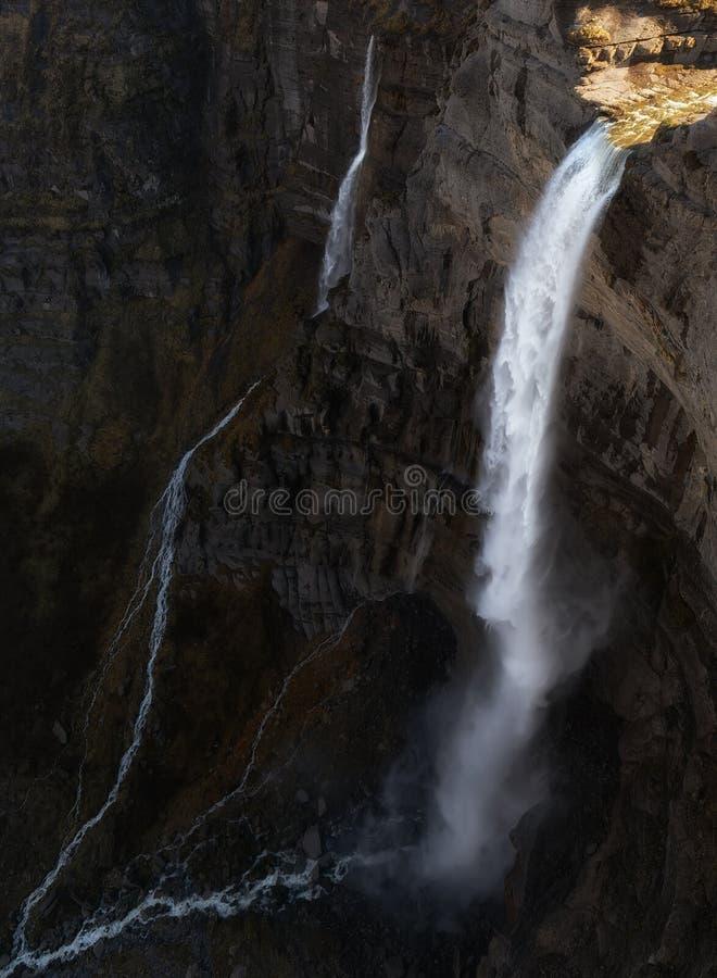 Nervion vattenfall i Spanien, mer än höga 200m arkivfoton