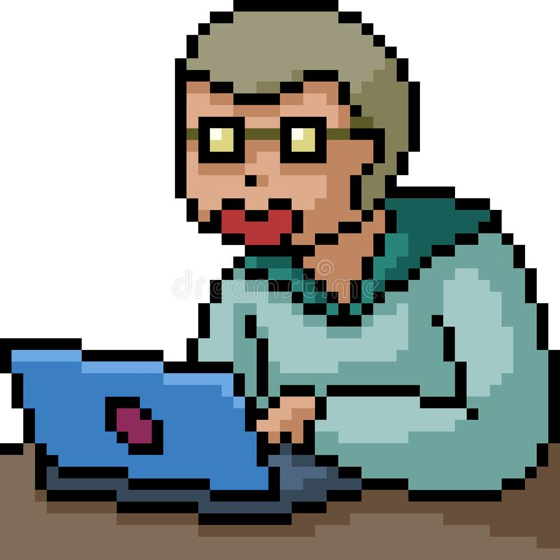 Nervo vetorial pixel art ilustração royalty free