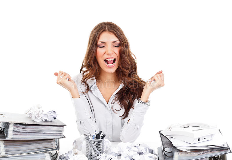 Download Nervous businesswoman stock photo. Image of nervous, chaos - 27573922