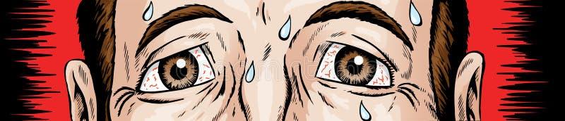 Nervous eyes vector illustration