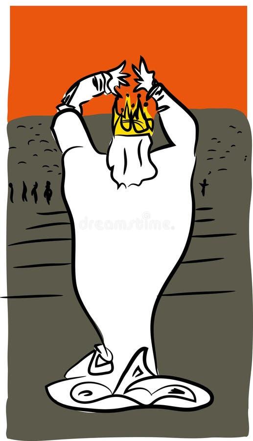 Download Nervous king stock vector. Illustration of illustartion - 114178616