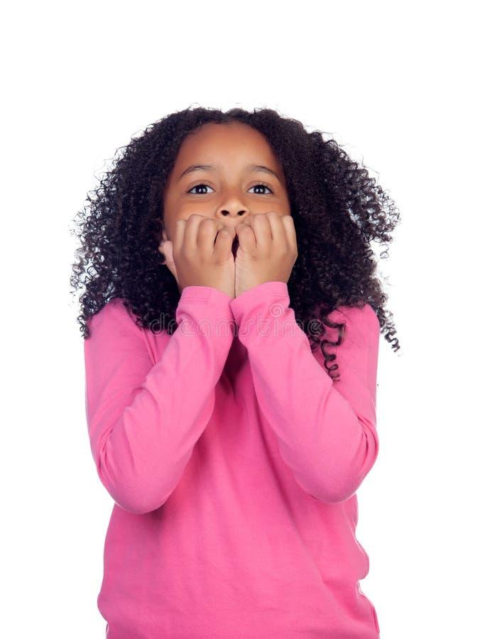 Free Nervous Little Girl Stock Image - 40383591