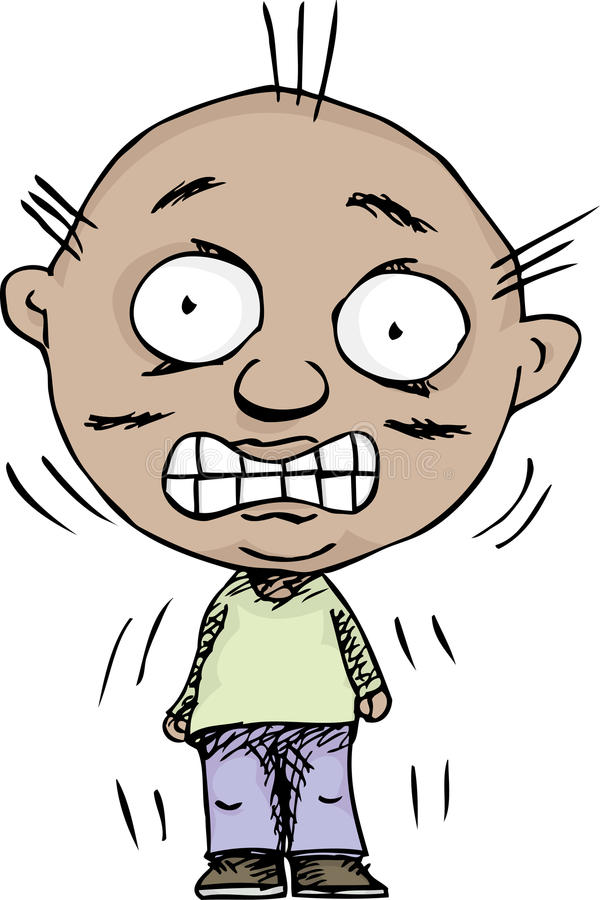 Nervous Person stock illustration