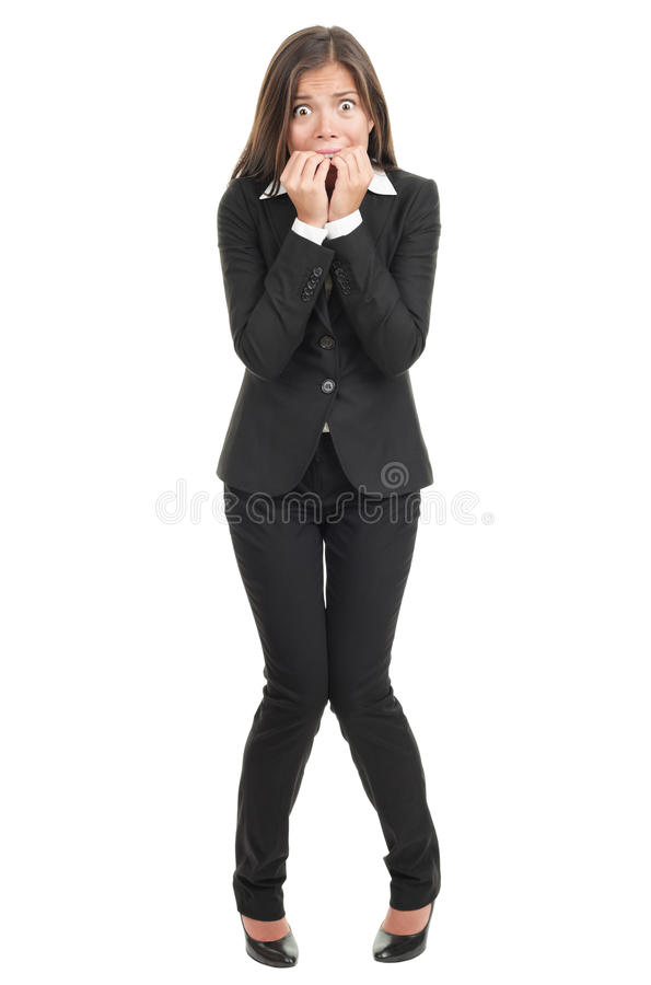 Free Nervous Scared Businesswoman Royalty Free Stock Photo - 13300975