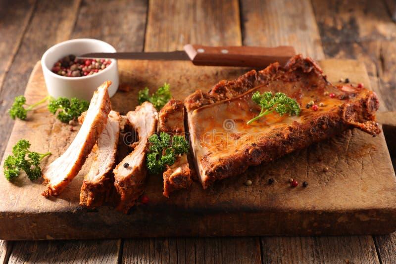 Nervure de porc de barbecue photographie stock libre de droits