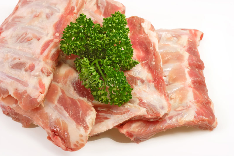 Nervures de porc images stock