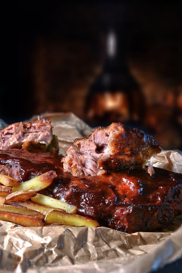 Nervures de porc de BBQ II image libre de droits