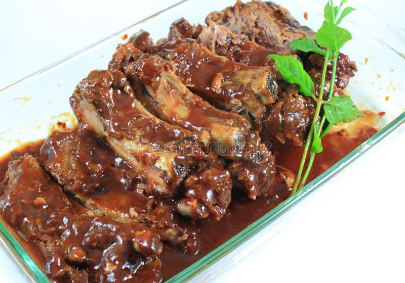 Nervures de porc de barbecue photo libre de droits