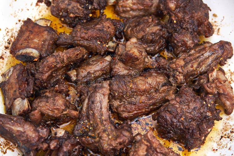 Nervures grillées de viande photographie stock