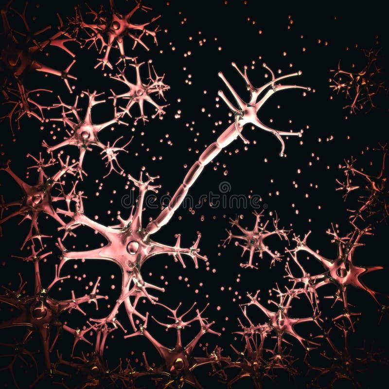 Nerw komórki, myelin sheath royalty ilustracja