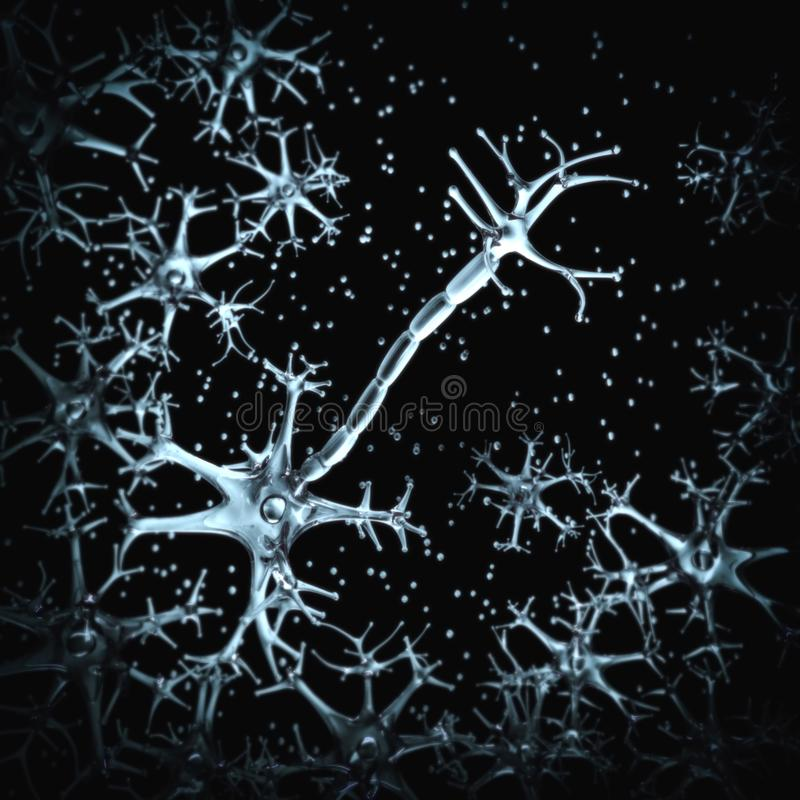 Nerw komórki, myelin sheath ilustracji