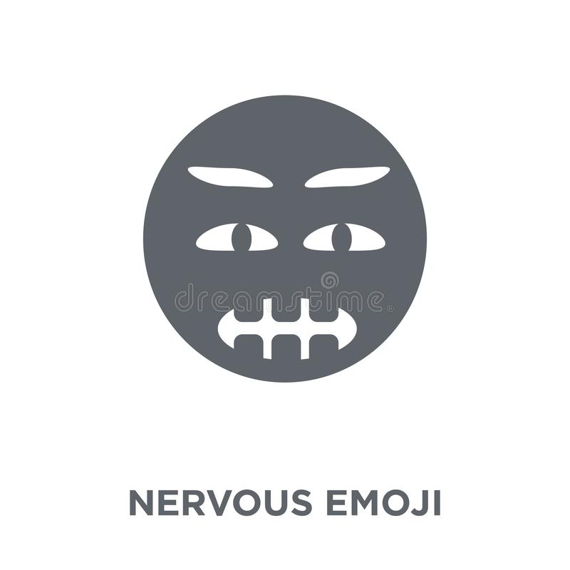 Nerwowa emoji ikona od Emoji kolekcji royalty ilustracja
