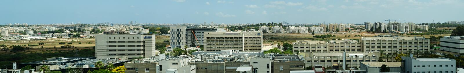 Download Nes Ziona panoramic view editorial stock image. Image of city - 32086679
