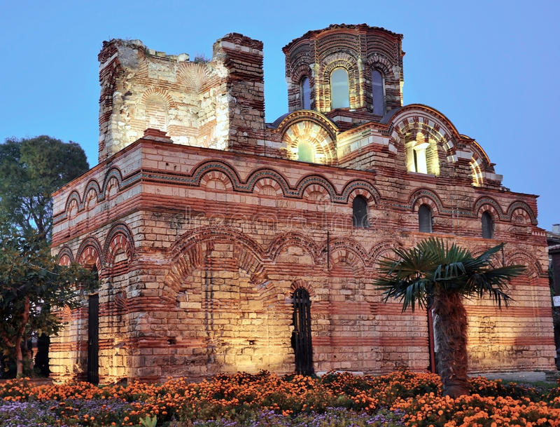 Nesebar, église, bâtiments photo stock